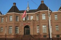 Stadium of football team Sparta named Kasteel Castle in the west of Rotterdam. stock photo