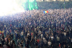 Stadium full with crowd of party people Stock Images