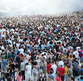 Stadium full with crowd of party people Stock Image