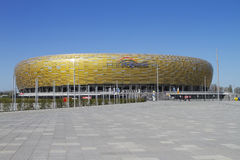 Stadium in Gdansk. GDANSK, POLAND - MAY 01, PGE Arena is a newly built football stadium for Euro 2012 Championship. The stadium is located in Gdansk in the north Royalty Free Stock Photo
