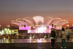 Stadium am globalen Dorf in Dubai Stockfotografie