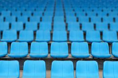 Stadium grandstand seats Royalty Free Stock Photo