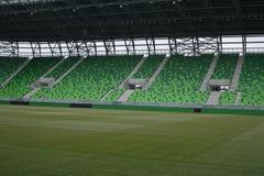 Stadium with grandstands Stock Photo