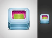 Stadium icon. Vector illustrated stadium icon isolated on light and dark background Stock Photos