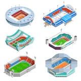 Stadium Icons Set Stock Photos