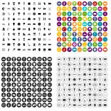 100 stadium icons set vector variant. 100 stadium icons set vector in 4 variant for any web design isolated on white Royalty Free Stock Image