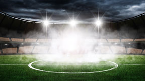 Stadium. An imaginary stadium is modelled and rendered Stock Photos