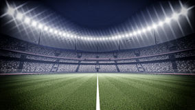 Stadium. An imaginary stadium is modelled and rendered Royalty Free Stock Photography