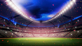 Stadium. An imaginary stadium is modelled and rendered Royalty Free Stock Image