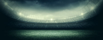 Stadium. An imaginary stadium is modelled and rendered Stock Photography