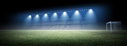 Stadium. An imaginary stadium is modelled and rendered Royalty Free Stock Images