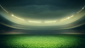 Stadium. The imaginary stadium is modelled and rendered Royalty Free Stock Photos
