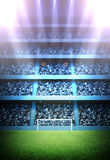 Stadium. The imaginary stadium is modelled and rendered Royalty Free Stock Images