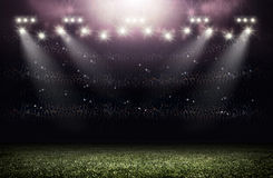 Stadium. An imaginary stadium is modelled and rendered Royalty Free Stock Photos