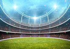 Stadium. The imaginary stadium is modelled and rendered Stock Photography