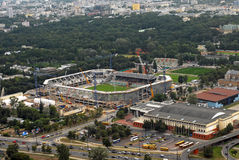 Stadium Legia construction Stock Image