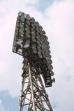 Stadium light. Lightning mast of Spartak stadium, Novosibirsk royalty free stock photo