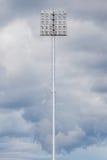 Stadium light with black cloudy sky before raining. Stock Photos