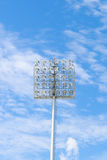 Stadium light on blue sky Royalty Free Stock Photos