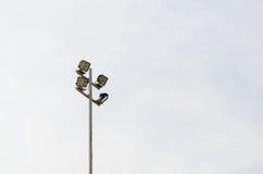 Stadium light. Bright bulb games Royalty Free Stock Image