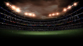 Stadium light at night Royalty Free Stock Photos