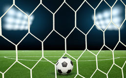 Stadium light penalty Royalty Free Stock Image