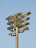 Stadium Light Pole Stock Photo