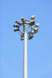 Stadium light pole Royalty Free Stock Photo