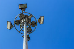 Stadium light pole Stock Photography