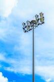 Stadium light pole. And blue sky Stock Image