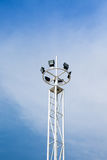 Stadium light with pole Stock Photography