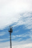Stadium light poles Stock Photography