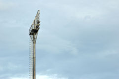 Stadium light poles Royalty Free Stock Photography