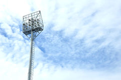 Stadium light poles Royalty Free Stock Images