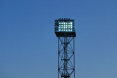 Stadium light tower Stock Photo