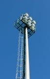 Stadium light. Tower on blue background Royalty Free Stock Photography