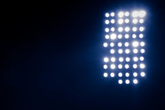 Stadium lights. Working at night during the game at the stadium Stock Photography
