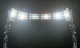 The stadium lights. On the stadium. abstract football or soccer backgrounds Stock Images