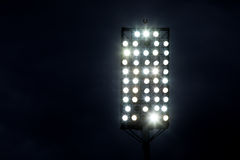 Stadium lights against dark night sky Royalty Free Stock Image