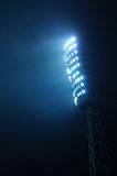 Stadium Lights against Dark Sky Background Royalty Free Stock Image