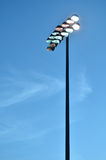 Stadium Lights Against the Evening Sky Stock Photos