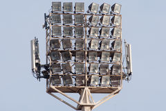 Stadium Lights. In a day time Stock Photos
