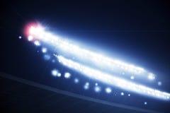 Stadium lights with flare Stock Photo