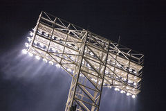 Stadium lights and light rays Royalty Free Stock Photography