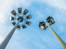 Stadium Lights at a Live Sporting Event or Concert. Royalty Free Stock Photo