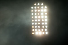 Stadium lights at night Royalty Free Stock Photo