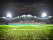 Stadium lights at night Royalty Free Stock Photos