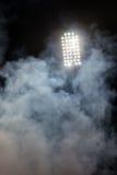 Stadium lights and smoke Stock Images
