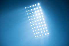 Stadium lights. Soccer stadium lights reflectors against black background Royalty Free Stock Images