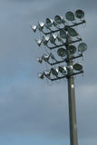 Stadium lights vertical. Shot of stadium lights vertical royalty free stock images